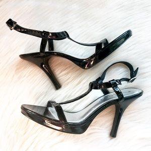 White House Black Market t-strap heeled sandals